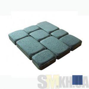 Тротуарная плитка сухопрессованная «Старый город» синяя 40 мм (кв.м)