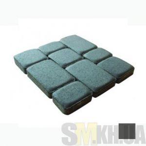 Тротуарная плитка сухопрессованная «Старый город» черная 40 мм (кв.м)