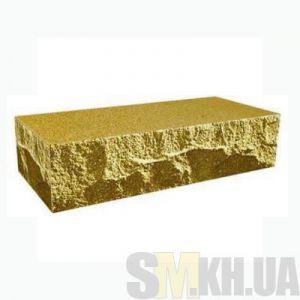 Кирпич облицовочный «финский» тычковой (желтый)
