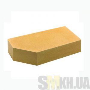 Кирпич облицовочный европейский гладкий угловой (желтый)