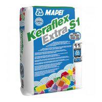 Клей для плитки Керафлекс Экстра C1/25 серый (Keraflex Extra S1/25) Mapei (25 кг)