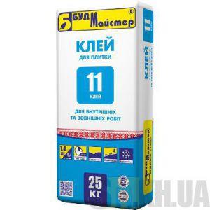 Клей для плитки цементный Будмайстер КЛЕЙ-11 (25 кг)