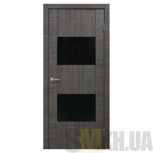 Двери межкомнатные ОМиС «Deco 03» (полотно под остекление, черное стекло)