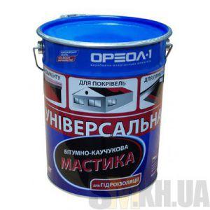 Мастика битумно-каучуковая универсальная Ореол-1 (10 кг)