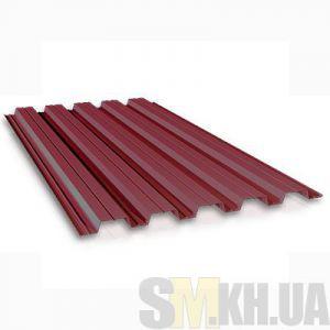 Профнастил стеновой ПС-10 вишневый 0.4 мм (кв.м)
