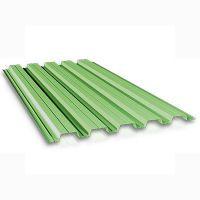 Профнастил стеновой ПС-10 зеленый 0.4 мм (кв.м)