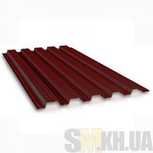 Профнастил стеновой ПС-10 шоколадный 0.4 мм (кв.м)