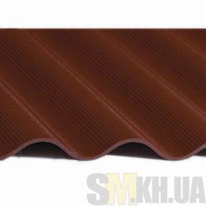 Шифер 8-волновый мини (1\4 листа) коричневый ( г. Балаклея)
