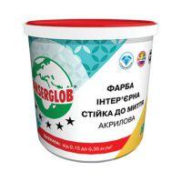 Краска акриловая интерьерная «Стойкая к мытью» Ансерглоб (Anserglob) (14 кг)