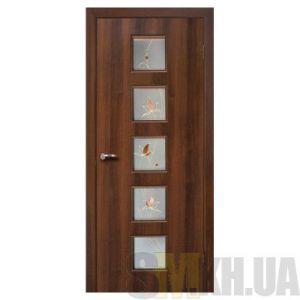 Двери межкомнатные ОМиС «Альта 5» (полотно со стеклом с контурным рисунком)