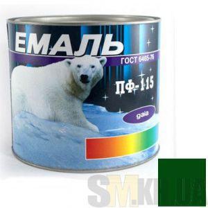 Краска Эмаль ПФ-115 изумрудная (2,5 кг)