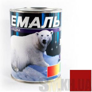 Краска Эмаль ПФ-115 красная (0,9 кг)