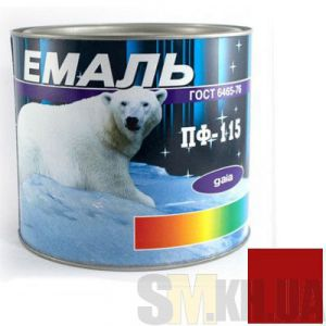 Краска Эмаль ПФ-115 красная (2,5 кг)