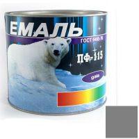Краска Эмаль ПФ-115 серая (2,5 кг)