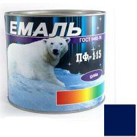 Краска Эмаль ПФ-115 синяя (2,5 кг)