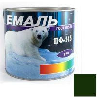 Краска Эмаль ПФ-115 темно-зеленая (2,5 кг)