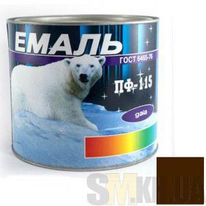 Краска Эмаль ПФ-115 темно-коричневая (2,5 кг)
