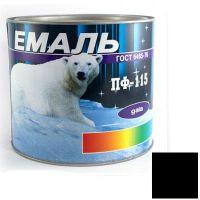 Краска Эмаль ПФ-115 черная (2,5 кг)