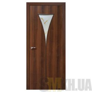 Двери межкомнатные ОМиС «Рюмка 2» (полотно со стеклом с контурным рисунком)