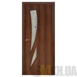 Двери межкомнатные ОМиС «Фиеста» (полотно со стеклом с контурным рисунком)