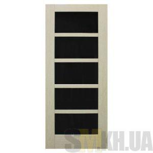 Двери межкомнатные ОМиС «Вена» (под остекление, черное стекло)