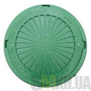 Люк смотровой max 2 т (зеленый) круглый