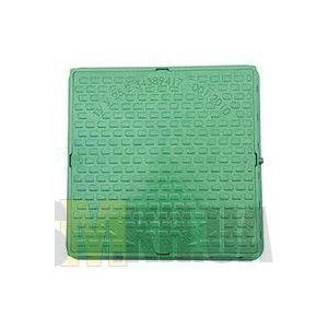 Люк смотровой садовый (зеленый) квадратный