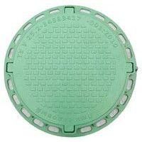 Люк смотровой садовый (зеленый) круглый