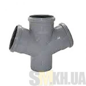 Крестовина канализационная 100/100/100 мм (45 градусов)