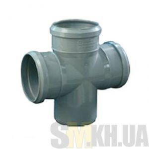 Крестовина канализационная 100/100/100 мм (90 градусов)
