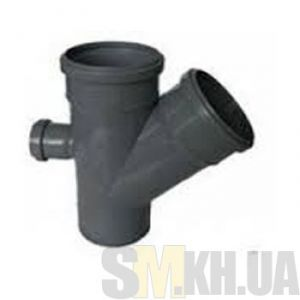 Крестовина канализационная 100/100/50 мм (45 и 90 градусов)