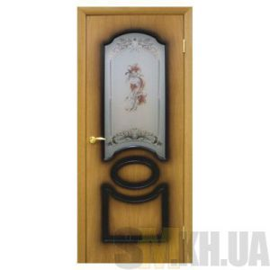 Двери межкомнатные ОМиС «Виктория» (полотно со стеклом с фотопечатью цветок)
