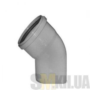 Уголок 100 мм (колено) канализационный (45 градусов)
