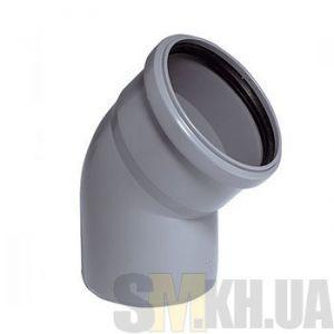 Уголок 100 мм (колено) канализационный (67 градусов)