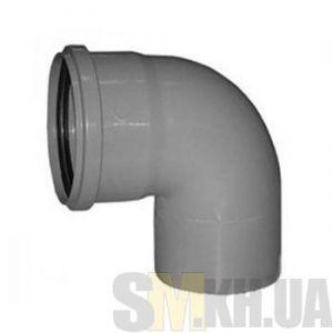 Уголок 100 мм (колено) канализационный (90 градусов)