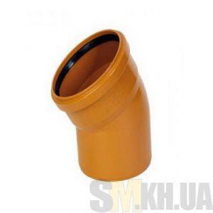 Уголок 100 мм (колено) канализационный наружный (30 градусов)
