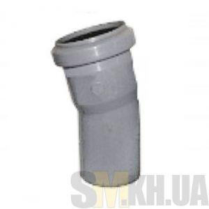 Уголок 50 мм (колено) канализационный (22 градуса)