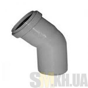 Уголок 50 мм (колено) канализационный (67 градусов)