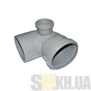 Уголок канализационный 100/50 мм (колено) левый (90 градусов)