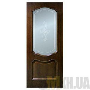Двери межкомнатные ОМиС «Кармен» (полотно со стеклом с контурным рисунком)