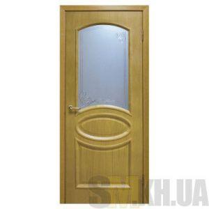 Двери межкомнатные ОМиС «Лаура» (полотно со стеклом с контурным рисунком)