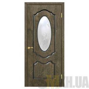 Двери межкомнатные ОМиС «Оливия» (полотно со стеклом с контурным рисунком)