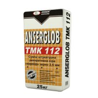 Декоративная штукатурка «Короед» Ансерглоб ТМК 112 (Anserglob TMK 112) (зерно 2,5 мм) серая (25 кг)