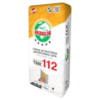 Декоративная штукатурка «Короед» Ансерглоб ТМК 112 (Anserglob TMK 112) (зерно 3,5 мм) серая (25 кг)