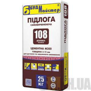 Самовыравнивающийся пол цементный М200 Будмайстер ДОЛИВКА-108 (25 кг)