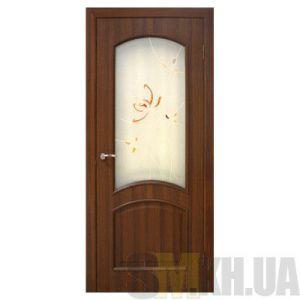Двери межкомнатные ОМиС «Адель ПВХ» (полотно со стеклом с контурным рисунком)