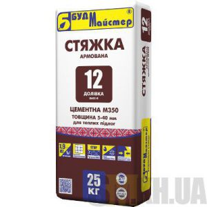 Стяжка для пола для теплых полов Будмайстер ДОЛИВКА-12 (25 кг)