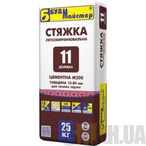 Стяжка для пола цементная легковыравнивающаяся Будмайстер ДОЛИВКА-11 (10-80 мм) 25 кг
