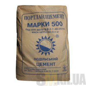 Цемент марка 500 (50 кг) (Каменец-Подольский)