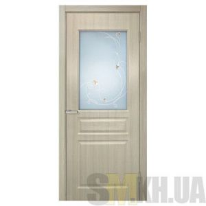 Двери межкомнатные ОМиС «Барселона ПВХ» (полотно со стеклом с контурным рисунком)